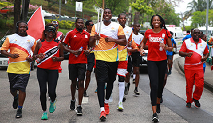 Olympic boxer Nigel Paul during the Queen's Baton Relay Tour ahead of the Gold Coast 2018 Commonwealth Games,