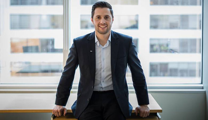 Alexandre Bilodeau is seen at KPMG's company offices in Montreal on Jan. 4.  DARIO AYALA/THE GLOBE AND MAIL