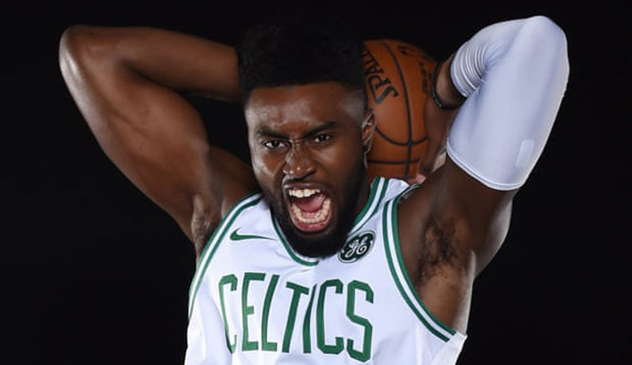 Jaylen Brown: 'We're having some of the same problems we had 50 years ago. Some things have changed a lot but other factors are deeply embedded in our society.' Photograph: Brian Babineau/NBAE/Getty Images
