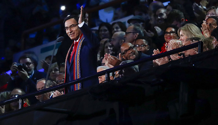 Peruvian President Martín Vizcarra declared the Lima 2019 Pan American Games officially open ©Lima 2019