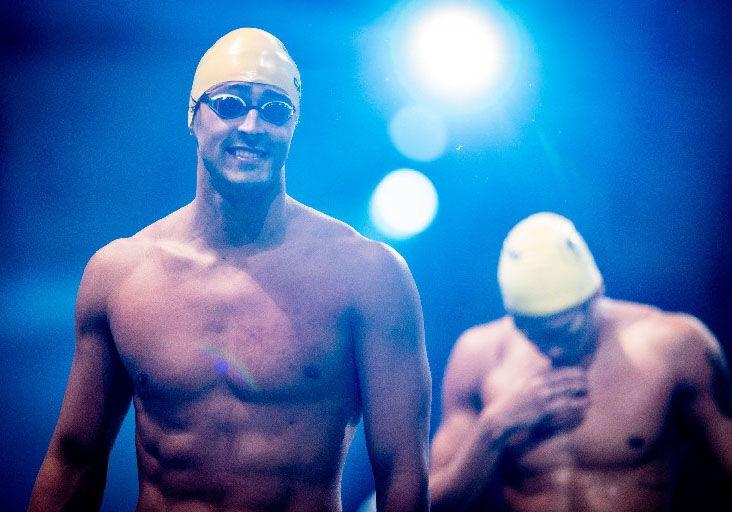 NOT SATISFIED BUT HAPPY: Team TTO swimmer Dylan Carter is all smiles before he gets ready to splash into action at the International Swimming League 2020 at the Duna Arena in Budapest, Hungary last Friday. —Photo courtesy Mine Kasapoglu