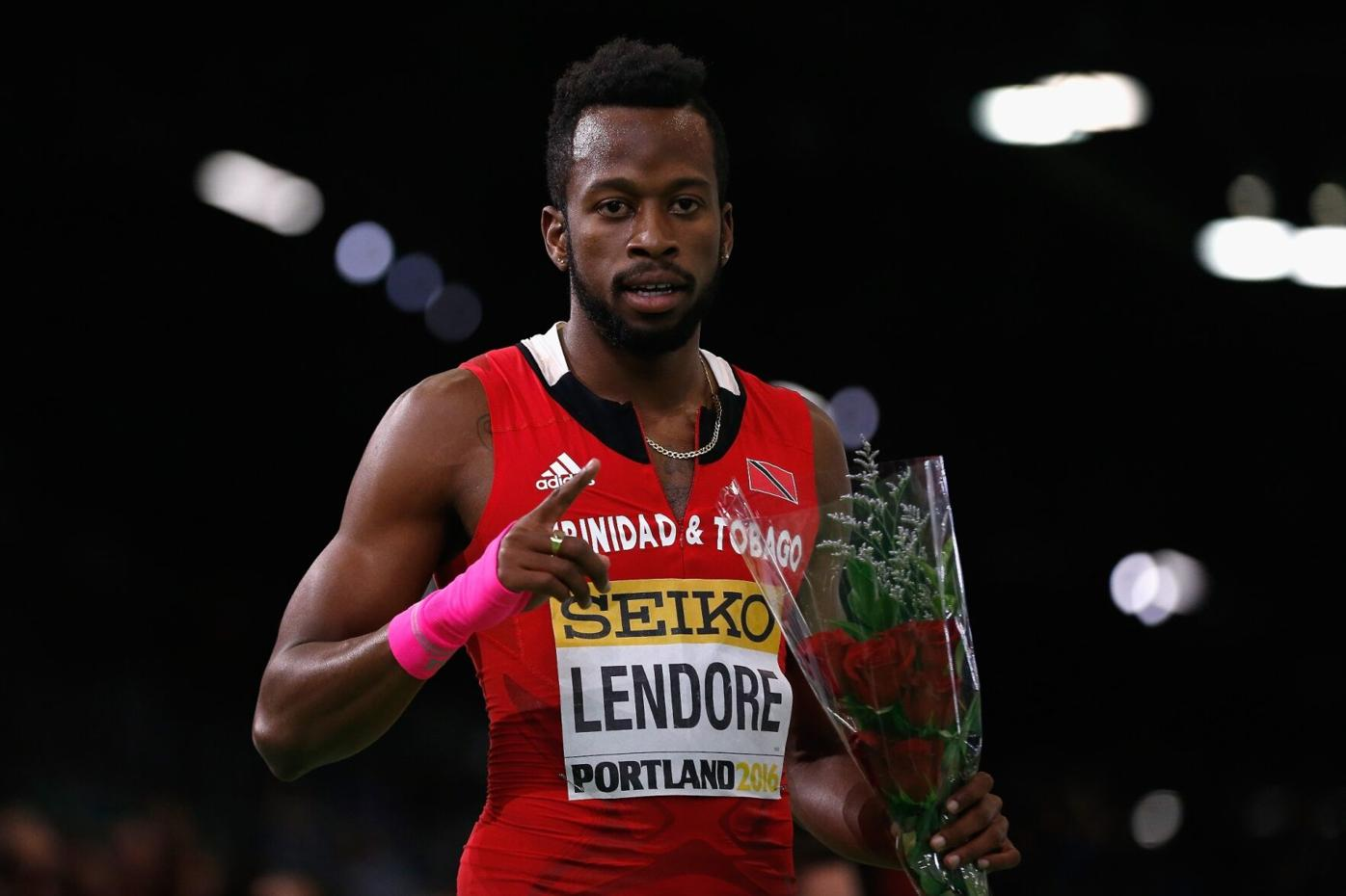 FLASHBACK: Bronze medallist Deon Lendore of Trinidad and Tobago celebrates after the men's 400 metres final, at the 2016 IAAF World Indoor Championships in Portland, Oregon, USA. Photo: GETTY IMAGES FOR IAAF