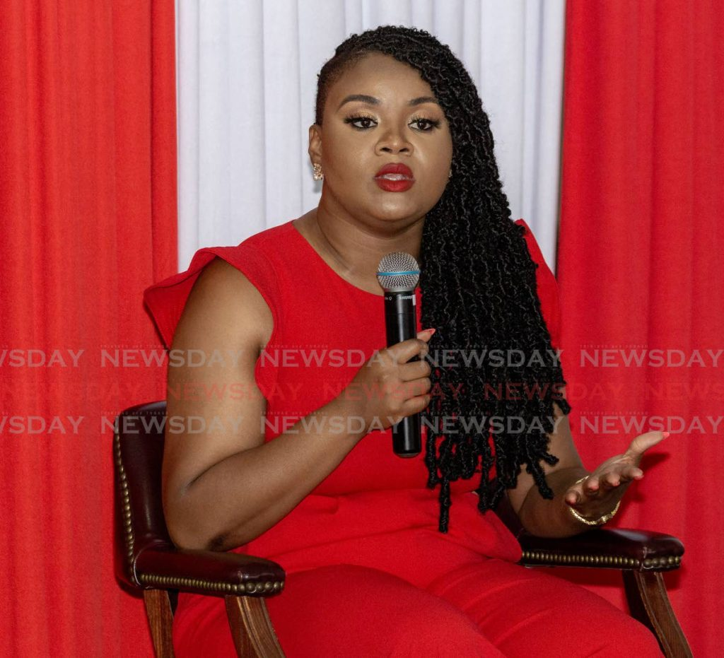 Minister of Sport and Community Development Shamfa Cudjoe . -