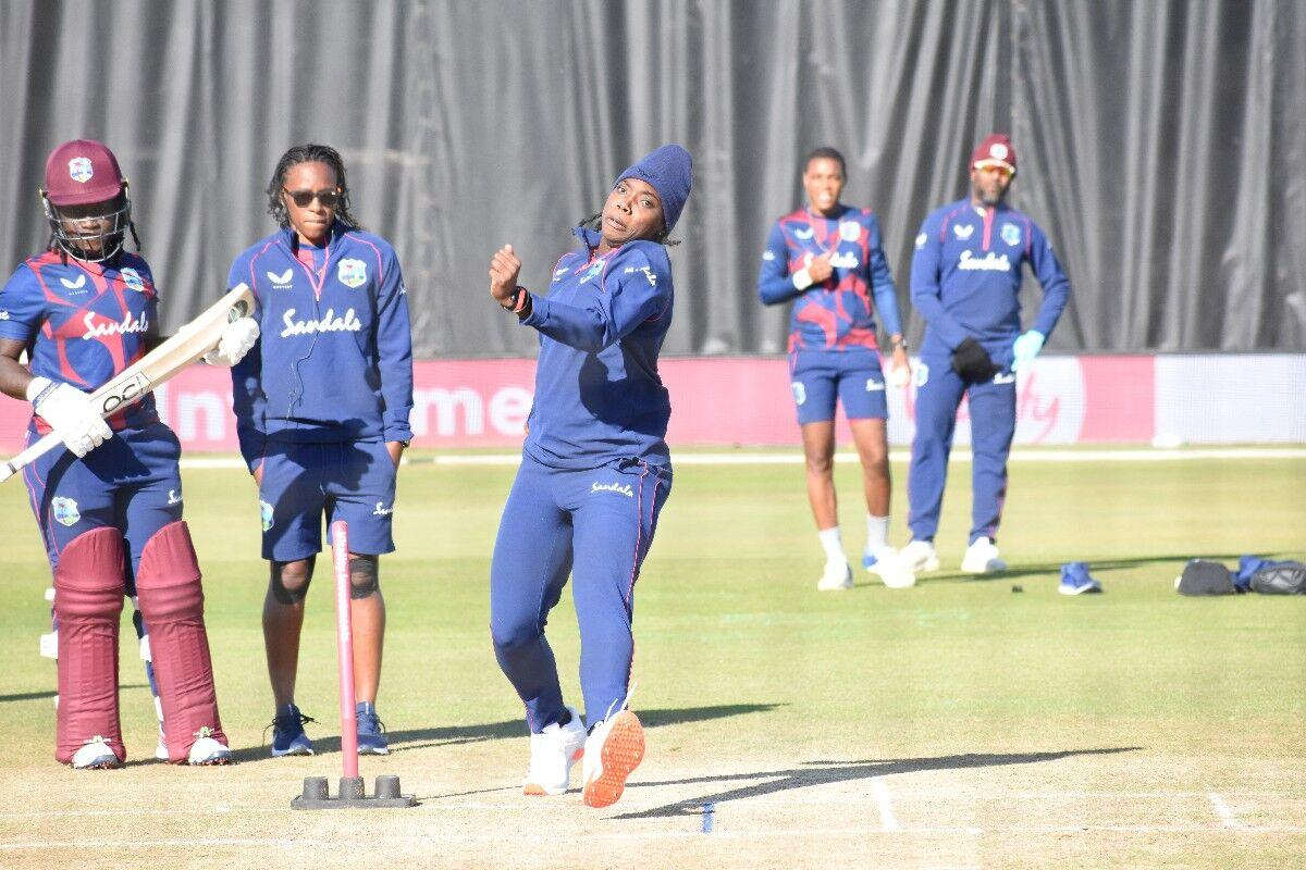 GETTING READY: West Indies women cricketers train during their visit to England last year.--Photo: CWI