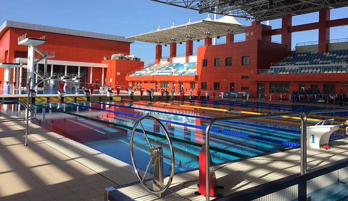 The National Aquatic Centre in Couva is one of the venues due to be used for the 2021 Commonwealth Youth Games in Trinidad and Tobago ©CGF